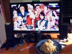 "From Orin. ""Thank you Tiger & Bunny, and This is Sternbild, for reminding me how good homemade fried rice is.  Oh, and AWESOMENESS."""