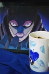 "From Nightmaric. ""Tea with Lunatic is like Tea with the Mad Hatter.  Except he doesn't wear any Hats.  Much love for the Heroes of Sternbild, known and unknown, Nightmaric."""