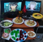 "From A.A. ""Me and a friend made this entry together... we made a lot of food.. *embarrasing* but this is how much we love tiger & bunny :3 <3"""