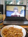 """From @deadstarfish. """"fried rice and a bunny. (that's mayonnaise in the corner. xD)"""""""