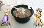 "From B.G. ""Origami & Dragon Kid with Wanton Soup"""