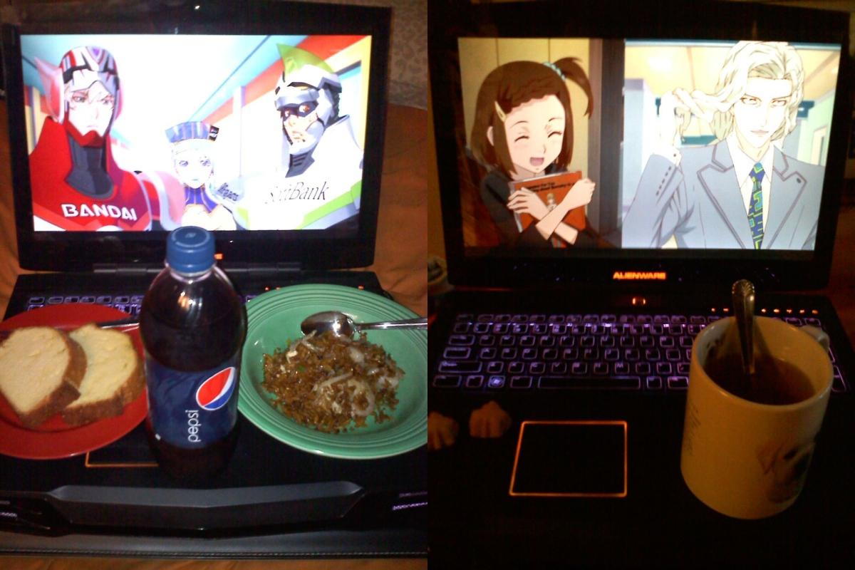 "From Juliamon. ""Food/drink for Kotetsu, Barnaby, Karina, Kaede, and Yuri."""