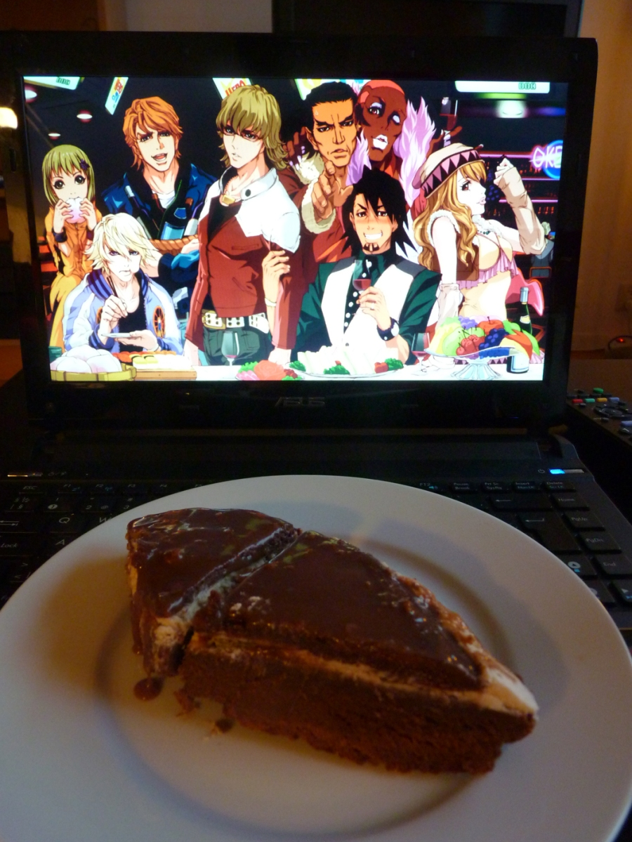 """From T.S. """"Chocolate cake for the T&B gang!"""""""