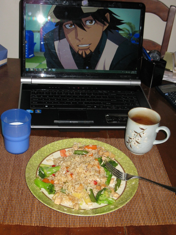 """From Vyc. """"I don't know how it happened, but this was some of the best fried rice I'd ever made. Maybe Kotetsu was guiding me?"""""""