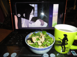 "From Aki_the_geek. ""One japanese salad and tea for the Kaburagi lady!"""