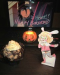 "From Sandra and Linda. ""<3 A creamy cupcake for Bunny! Happy birthday :D"""