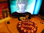 "From P.P.B. ""¡Feliz cumple Barnaby!, much love from Chile"""