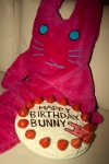 "From K.V. ""Happy Birthday, Bunny! And also Happy Halloween!"""