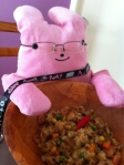 """From @mayuuka. """"チャーハン作りました!一年も練習しましたのでもちろん自信があります。食べてください、おじさん(。 ー`ωー´)✧"""""""